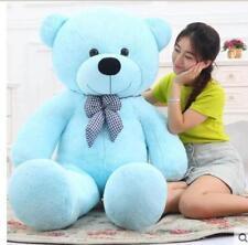 "47"" Stuffed Teddy Bear Blue Huge Soft Big Plush Kids Birthday Gifts 120cm Giant"