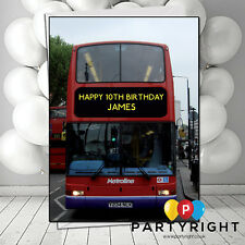 Personalised London Bus Name Age Greeting Card Birthday  Card