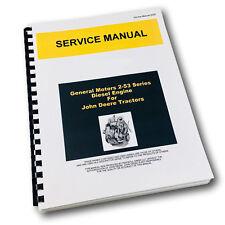 Service Manual For John Deere 435 Tractor General Motors Gm 2 53 Engine Repair
