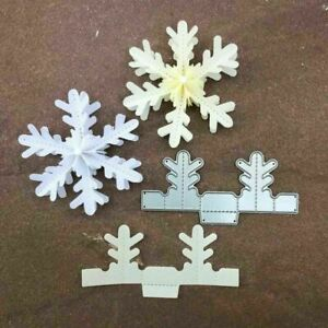 DIY Snowflake Stencil Metal Cutting Dies Scrapbooking Embossing Paper Card Decor