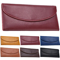 Womens Leather Wallets Money Credit Card Holder Bags Long Bifold Purse Handbags
