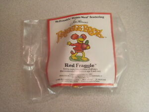 "McDonalds 1988 Fraggle Rock - "" Red"" w/ Raddish - Under 3 (U3) - Mint in Package"