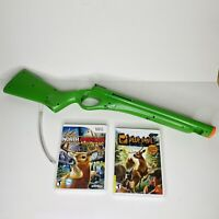 CABELAS ACTIVISION Shotgun Gun Rifle Attachment Nintendo Wii Controller (Green)