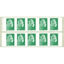 CARNET MARIANNE VERTE D'YSEULT 10 TIMBRES