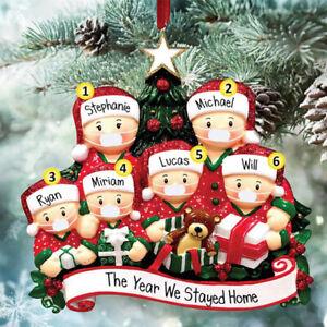 Christmas-Personalized Family Member-Xmas Tree Hanging Decor 2-6 people-Lockdown