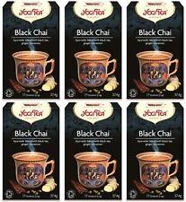 Yogi Tea nero CHAI - 17 Sacchetti (Pacco da 6)