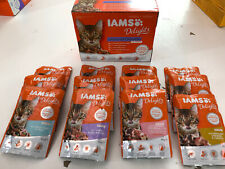 Iams Delights Land and Sea Collection in Gravy Cat Food 12 x 85g. Free delivery!
