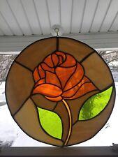 "14.5"" Round Rose Sun Catcher Handmade Hanging Decoration"