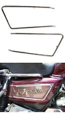 Chrome Steel Side Cover Rails (pair) for GL1500 and GL1200 Goldwings - #673-226A