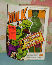 "vintage Mego WGSH 12"" THE INCREDIBLE HULK (Fly-Away Action) in box"