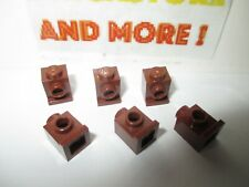 Lego - 6x Brique Brick Modified 1x1 Trou Headlight 4070 Reddish Brown/Marron