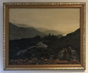 Original Scottish Art Oil On Board Painting Glentool Landscape Gweneth Stevenson