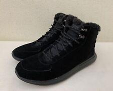 Skechers Gowalk City Sierra Black Suede Laced Fur Lined Ankle Boots UK 8.5 EU 43
