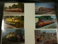 """Lot of 6 Postcards of Vintage Trains in Acrylic Frame 14"""" x 10"""""""