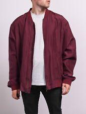 Vintage X Large Silk Bomber Jacket Retro Clothing 90s Purple XL