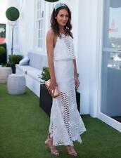 ALICE McCALL White Guipure Lace Midi Dress Races/Polo/Wedding AU8/US4