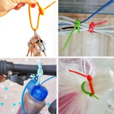 10pcs Silicone Bag Ties Cable Management Zip Tie Twist Multi Use Popular 97k