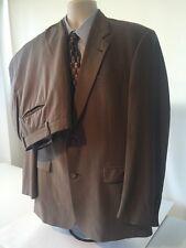 Burberry 40L Brown/Blue Pinstripe Men's Two Piece Suit 100% Wool