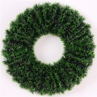 Tricot Créations Couronne / Guirlande de Noël 37cm - Vert et Noir à Décorer