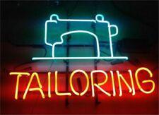 "Tailoring Open Neon Lamp Sign 17""x14"" Bar Light Glass Artwork"