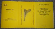 Beschreibung Parabellum Pistole 08 - 9mm & 7,65mm & lange Pistole Trommelmagazin