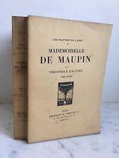 Théophile Gautier Mademoiselle de Maupin G.Crès 1922