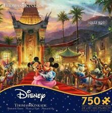 Ceaco DISNEY Thomas Kinkade Mickey and Minnie Hollywood 750 piece Puzzle NIB