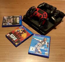 Sony PS4 Slim 500GB Console Nera con 4 DualShock (3 Sony, 1 Nacon) e videogiochi