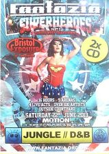 FANTAZIA SUPERHEROES PT2 JUNGLE DRUM & BASS - 2 X CD PACK BROCKIE SS DET RAVE DJ