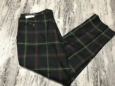 D Polo Ralph Lauren Black Label Tartan Plaid Slim Pants 100% Wool 40 x 30 NWT'S