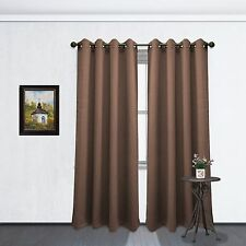 "Two Blackout Room Darkening Window Curtain Panels, Tessa 54""x84"", 13 Colors"