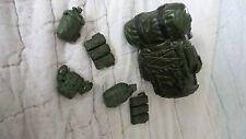 GI Joe Military Grab Bag Equipment for 12 in Figurine Inc. Large Knapsack