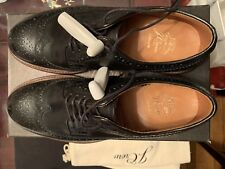 Jcrew Black Mahogany Longwing Blucher Size 8D Black Dress Shoes