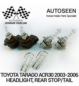 For Toyota Tarago ACR30 2003~2006, 2x HB3(9005) / 2x H7 / 2x WEDGE Double