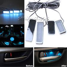 Ice Blue Car Decorative Inner Door Bowl Wrists Handle Armrest Light Ambient Lamp