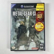 Metal Gear Solid: The Twin Snakes Nintendo GameCube Case & Artwork Only, No Game