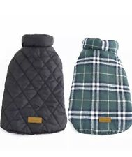 Kuoser Winter Jacket Coat Dogs Sz Medium Cold Weather Reversible Flannel Plaid