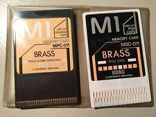 KORG DOPPIE CARD MPC-11+ MSC-11 Brass  KORG M1/M1r/T3