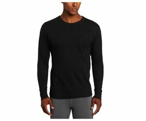 Duofold Men's Mid Weight Wicking Crew Neck Top, Black, 2XL