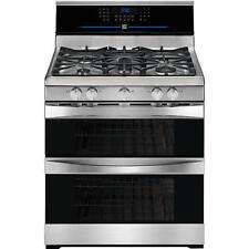 53a84a68d04 Kenmore Elite 78153 30  Gas Convection Double Oven Range - Silver