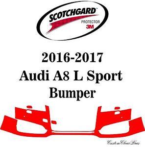 3M Scotchgard Paint Protection Film Clear Bra Pre-Cut 2016 2017 Audi A8 L Sport