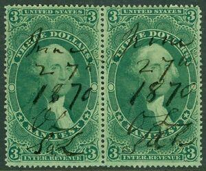 USA : 1862. Scott #R86c Choice, Extra Fine pair. A Gem. Catalog