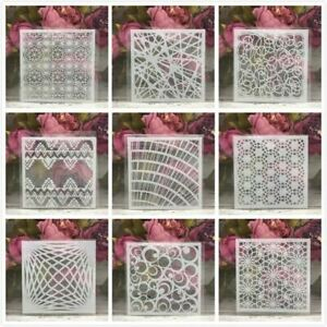 Line Grid Geometry Layering Stencils Painting Scrapbook Coloring Emboss Album