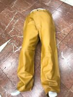 Men's Davoucci Yellow Mustard 100% Genuine Leather Pants