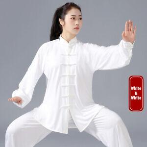 Milk Silk Martial Arts Uniform Tai Chi Kung Fu Suit Wushu Changquan Clothes Set