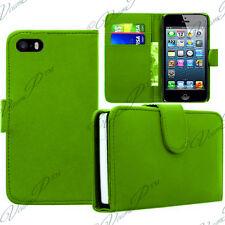 COVER CUSTODIA PORTAFOGLIO VERDE PELLE PELLICOLE Apple iPhone 5SE/ SI