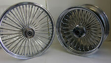 CHROME MAMMOTH FAT SPOKE WHEELS HARLEY 18x3.5 & 18x8.5 CHOPPER 250 TIRE