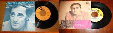 Stock 2 dischi 45 giri vinile - Charles Aznavour