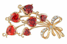 Janeo Love Hearts Brooch Pin Swarovski Crystals Elements Christmas Gift For Her