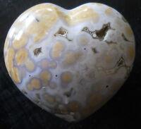 POPPIN MULTI RUNG ORBS OCEAN JASPER HEART SCULPTURE DISPLAY 0119